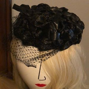 Vintage Brianti of Florence pillbox hat fascinator